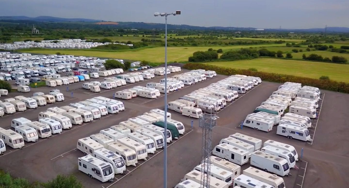 blue self storage in cardiff - our expansive caravan storage site