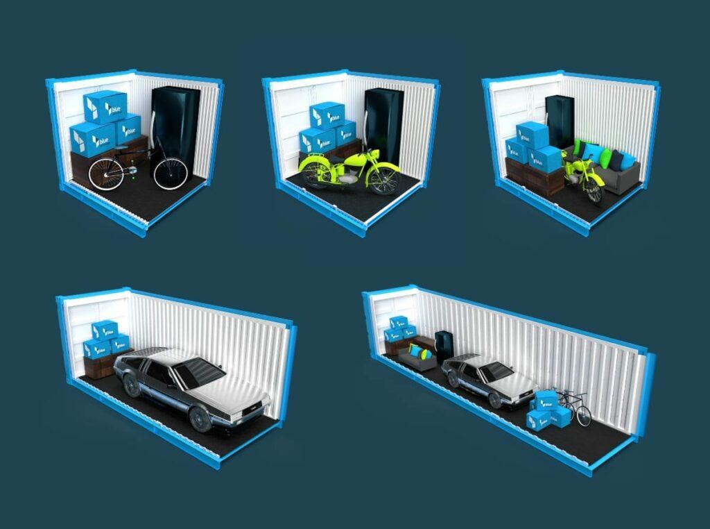 Self storage units at blue self storage - Cardiff and Tyneside