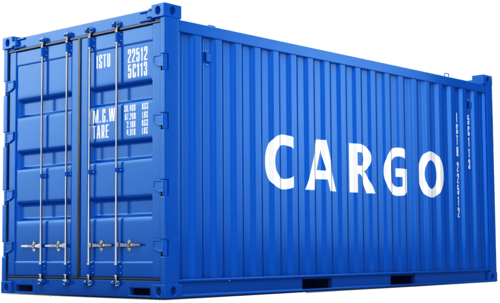 Blue Self Storage in Cardiff - blue container storage unit