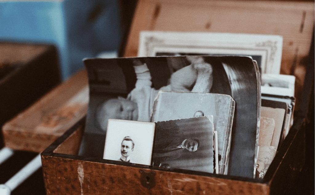 Old photos for for decluttering sentimental items