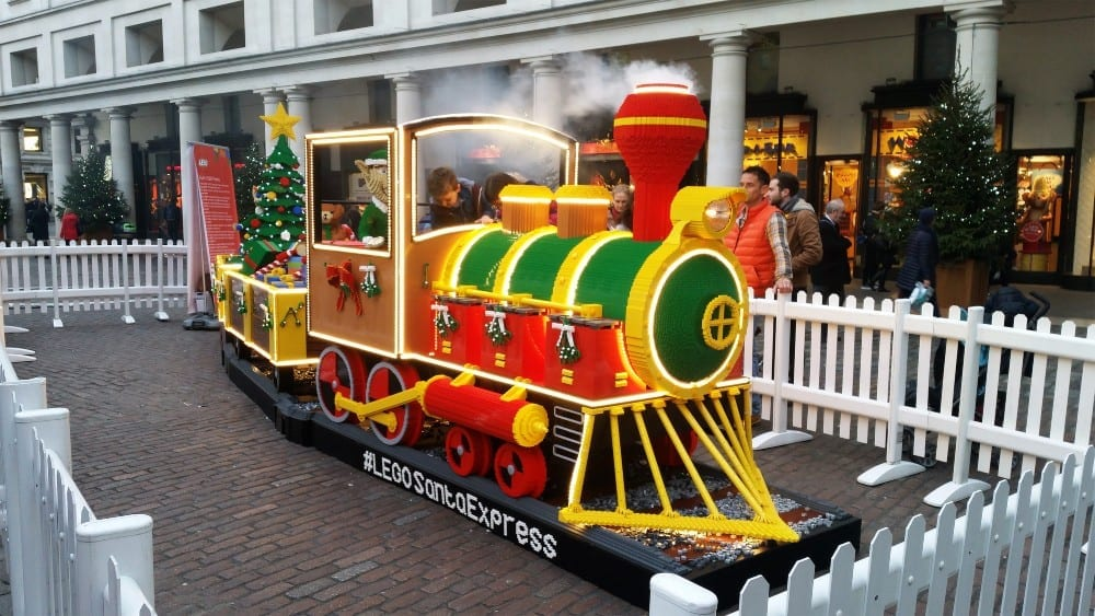 Cardiff Storage event ideas - lego built Christmas express train