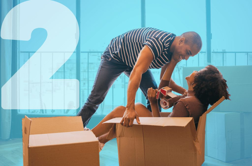 breezybox - storage collection service in Cardiff from blue self storage - couple packing boxes